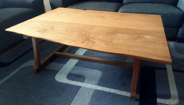 Egetræ planke sofabord